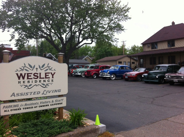 Wesley Residence Assisted Living front sign and parking lot