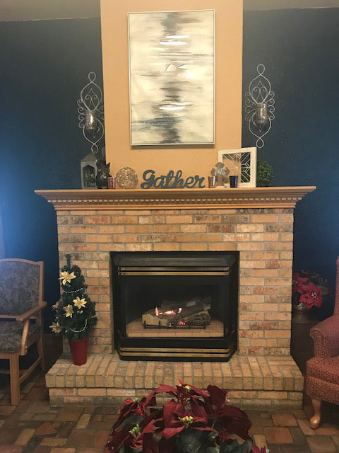 Wesley Residence fire place