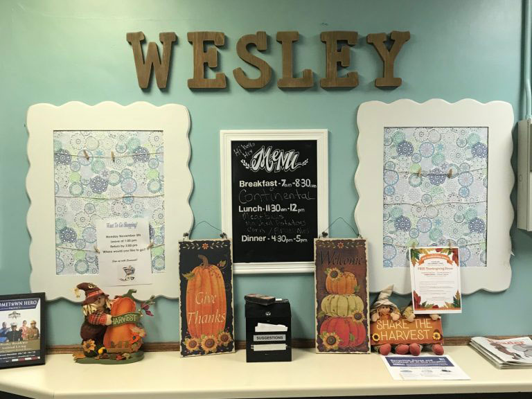 Wesley Residence Front Entry And Menu